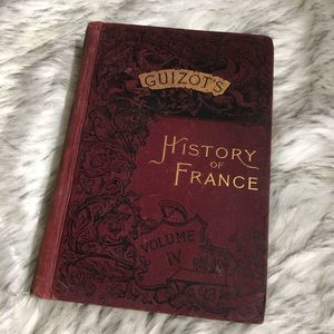 Vintage Guizot's History of France IV Book Decor